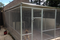16x8ft dog pen with roof system